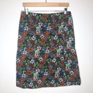 Christopher & Banks Stretch Wrap Floral Midi Skirt